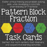 Pattern Block Fraction Task Cards