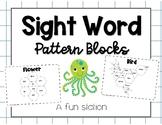 Pattern Block Sight Words Math & Literacy Station