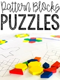 Pattern Blocks Puzzles - 22 Leveled Puzzles