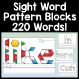 Sight Word Practice with Pattern Blocks {220 Words!}