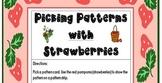 Patterning, Math Workstation, Strawberry Theme