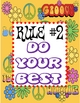 Peace Themed Classroom Rule Signs