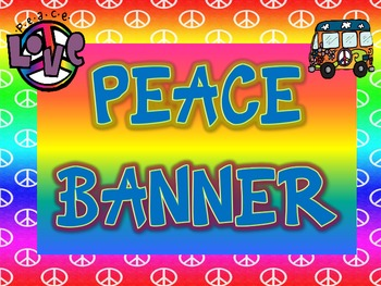 Peace Themed Welcome to First Grade Banner