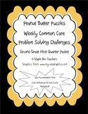 Peanut Butter Math Puzzles 1 CCSS Problem Solving Challeng