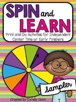 Spin and Learn - Print and Go Activities for Centers & Ear
