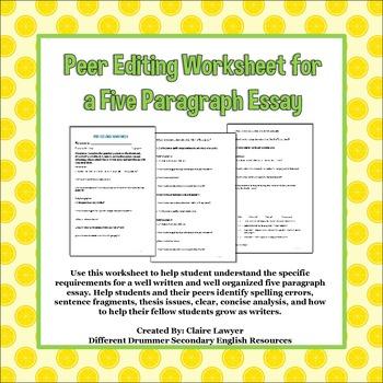 5 paragraph essay editing checklist