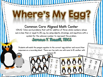 Penguin Math (Addition with 3 addends)