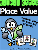 Penguin Place Value Games K-2
