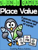 Penguin Place Value Games K-2