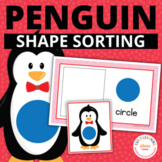 Penguin Shape Sort: Winter Shapes for Preschool and Early