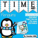 Penguin Time Me!  Fluency Station-editable