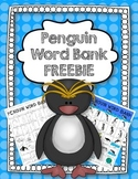 Penguin Word Bank FREEBIE