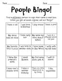 People Bingo (beginning of the year)