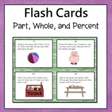 Percent Problems Task Cards Common Core  6.RP.3C