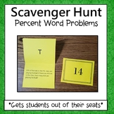 Percents  Scavenger Hunt (Word Problems) 6.RP.3c