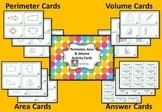 Perimeter, Area & Volume Math Center Cards #1