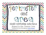 Perimeter and Area Math Workshop Activities- Aligned to th