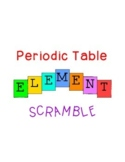 Periodic Table of Elements Word Scramble Chemistry Science