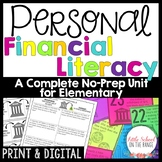Personal Finance and Money Unit for Elementary - No Prep