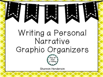 Personal Narrative Graphic Organizer by The Teacher's Work Room