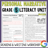 Personal Narrative Reading & Writing Unit: Grade 5...40 Lessons!!