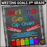 Personal Writing Goals Clip Chart - Grade 3