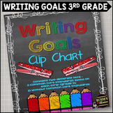 Personal Writing Goals Clip Chart - Grade 3
