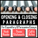 Persuasive Writing Lesson: Writing Opening and Closing Paragraphs