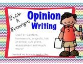 Persuasive Writing Pick a Prompt (common core aligned)