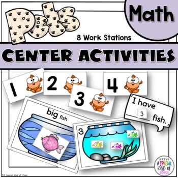 Pet Math Work Station Activities
