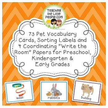 Pet Vocabulary Cards for Preschool & Kindergarten Image