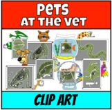 Pets at the Vet Clip Art