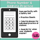 Phone Number and Address Practice for Students