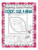 Phonemic Awareness Practice: Beginning Sounds [Color, Cut,
