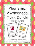 Phonemic Awareness Task Cards: CVC Words