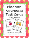 Phonemic Awareness Task Cards: CVC Words