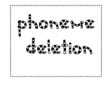 Phonemic Deletion