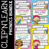 Phonics Activity Bundle - Alphabet, Word Families, Blends,