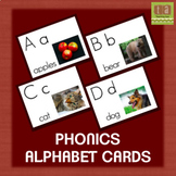 Alphabet Chart Picture Cards With Real Images - No Clip Art!