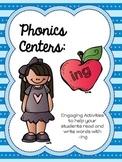 Phonics Centers:  -ing