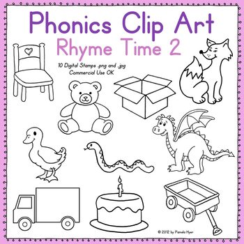 Phonics Clip Art:  Rhyme Time 2