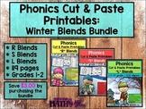Phonics Cut & Paste Printables: Winter Blends Bundle