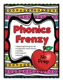 Phonics Frenzy: No Prep