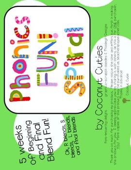 Phonics Fun Spiral - Blends - A 5 week Unit
