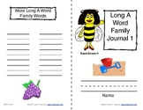 Phonics: Word Family Journals--Long Vowels (A & E)