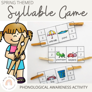 Phonological Awareness: Spring Syllable Center Game