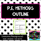 Physical Education Elementary Methods: Outline for College