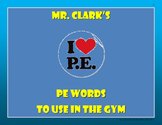 Physical Education Words