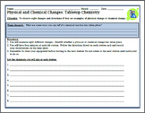 Physical and Chemical Changes Lab Activity: Tabletop Chemistry
