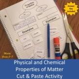 Physical and Chemical Properties of Matter (cut & paste) Activity